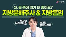 지방분해주사 vs 지방흡입!